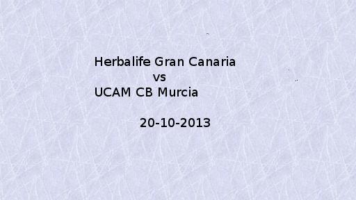 CB Canarias vs Cb Murcia 20-10-2013